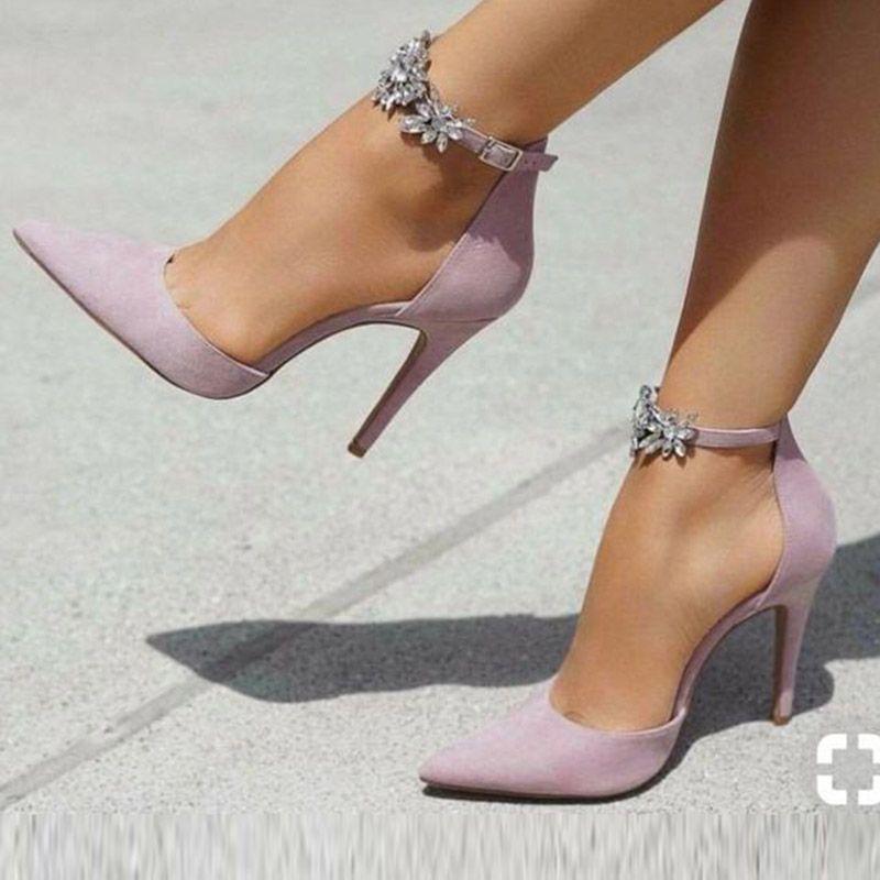 Sandals Rhinestone Pointed Toe Women's