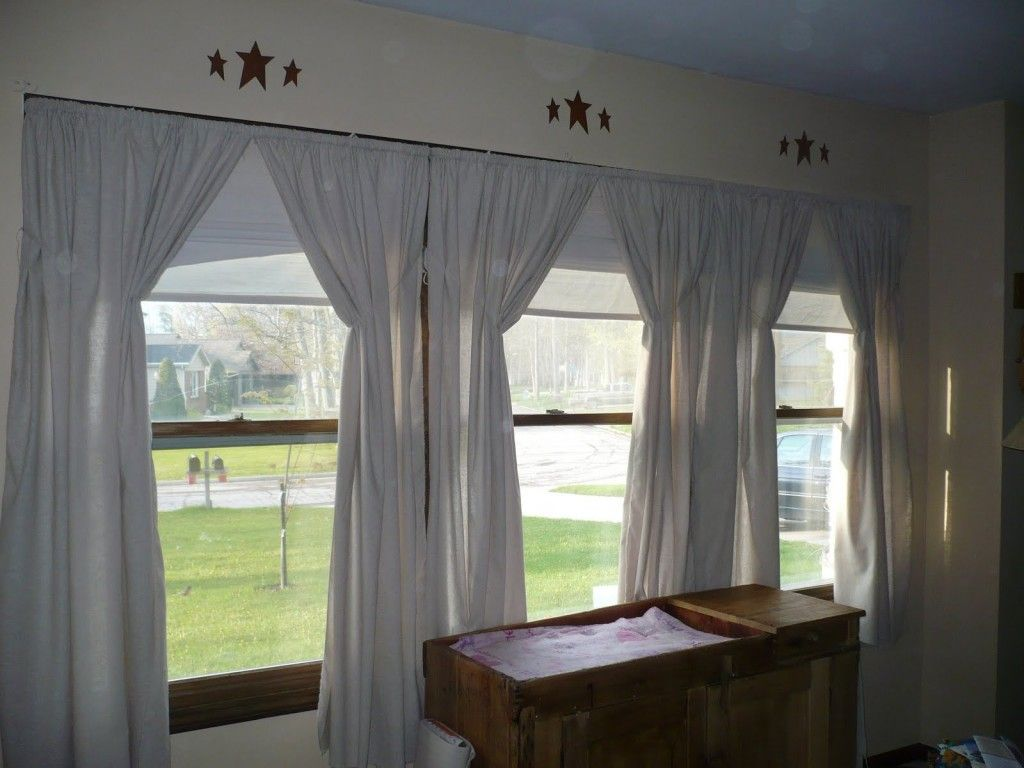 3 Windows In A Row Curtains Living Room Window Treatments