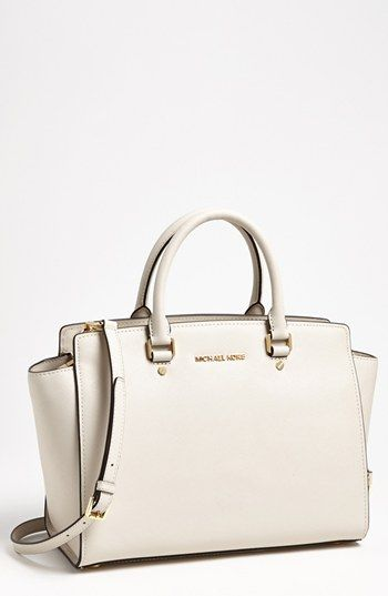 Michael Kors Selma Large Leather Satchel Available At Nordstrom