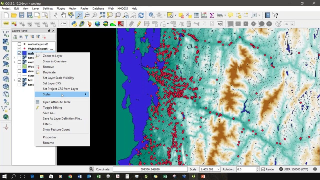 Using Qgis To Assess The Frequency Of Location Points To Specific Environmental Features Assessment Engineering Tools Remote Sensing
