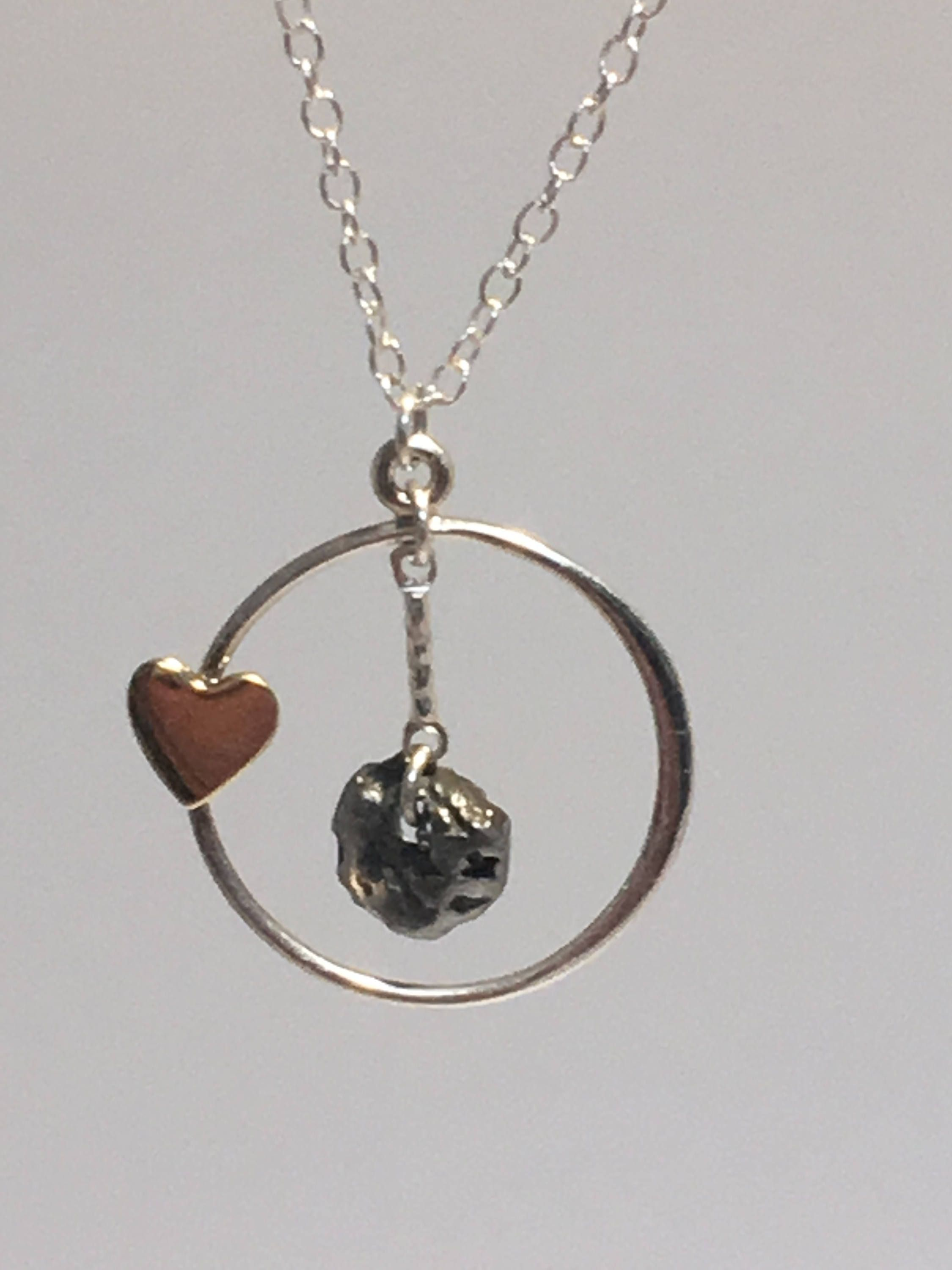 Meteorite jewelry mothers day gift meteorite necklace heart meteorite jewelry mothers day gift meteorite necklace heart charm daughter necklace heart necklace meteorite pendant science aloadofball Images