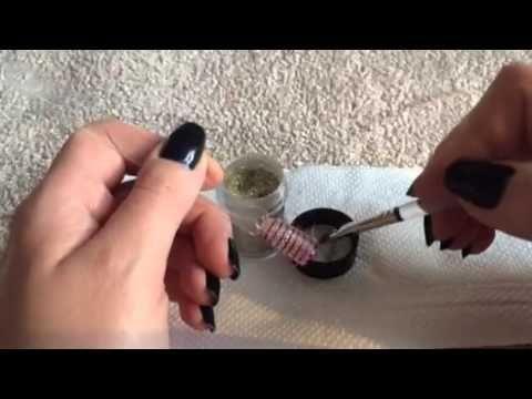 Cnd Shellac Lecente Glitter Stripe Nail Art Tutorial Youtube