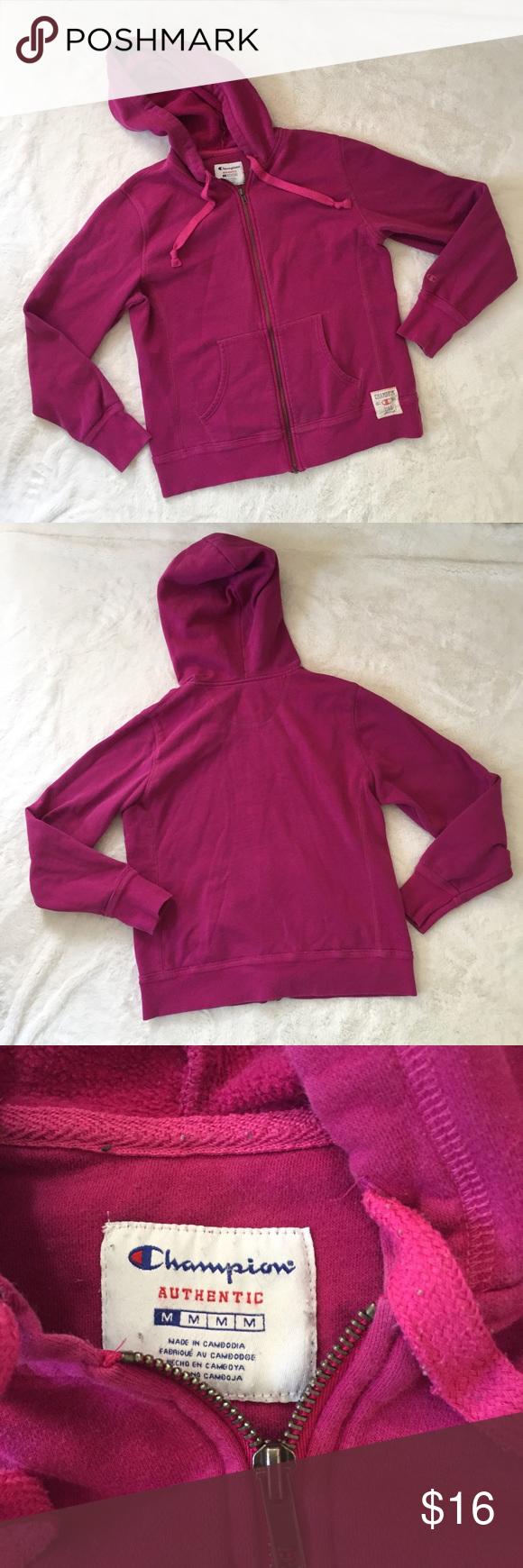 Champion medium dark pink sweater | Dark and Coats