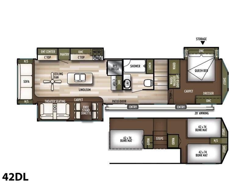 2020 forest river wildwood lodge 42dl park models rv for