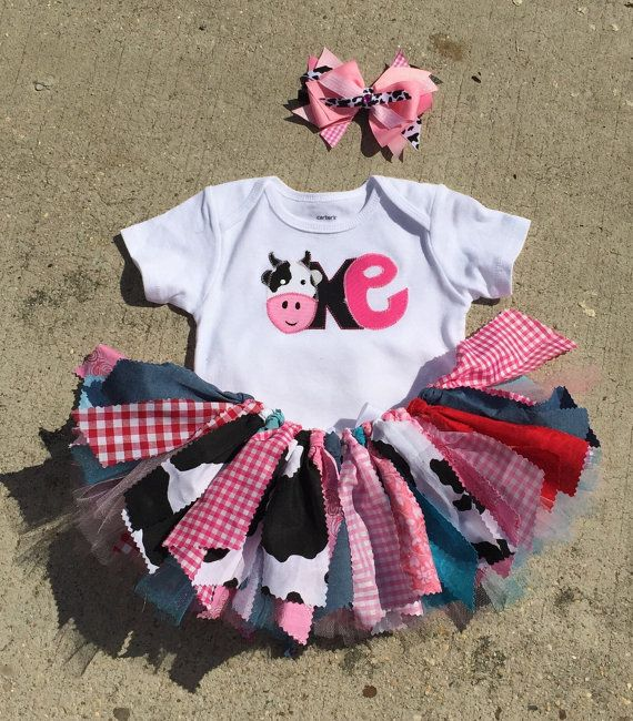 Barnyard Birthday Outfit Cowgirl First Farm By LilNicks