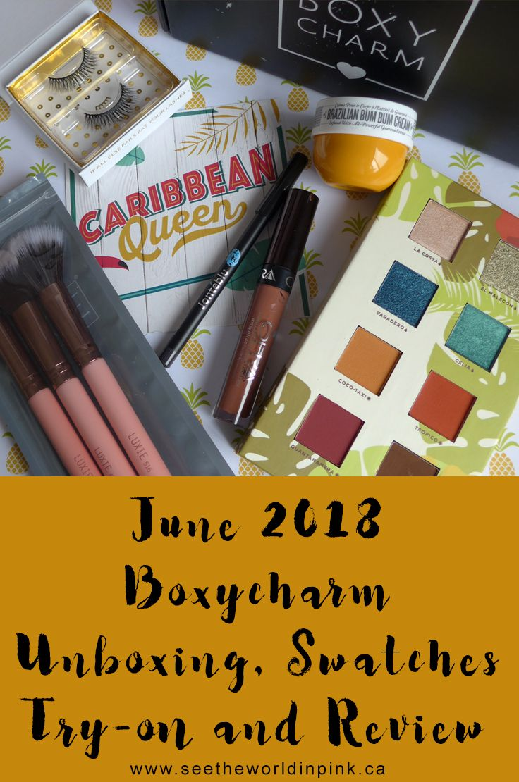 June 2018 Boxycharm Unboxing, Swatches, Try on and