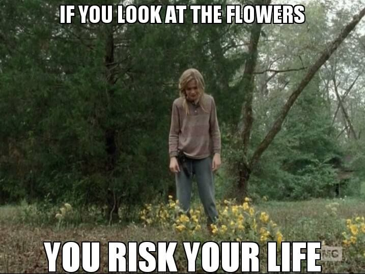 Lizzie Samuels. TWD. The Walking Dead. Look at the flowers you ...