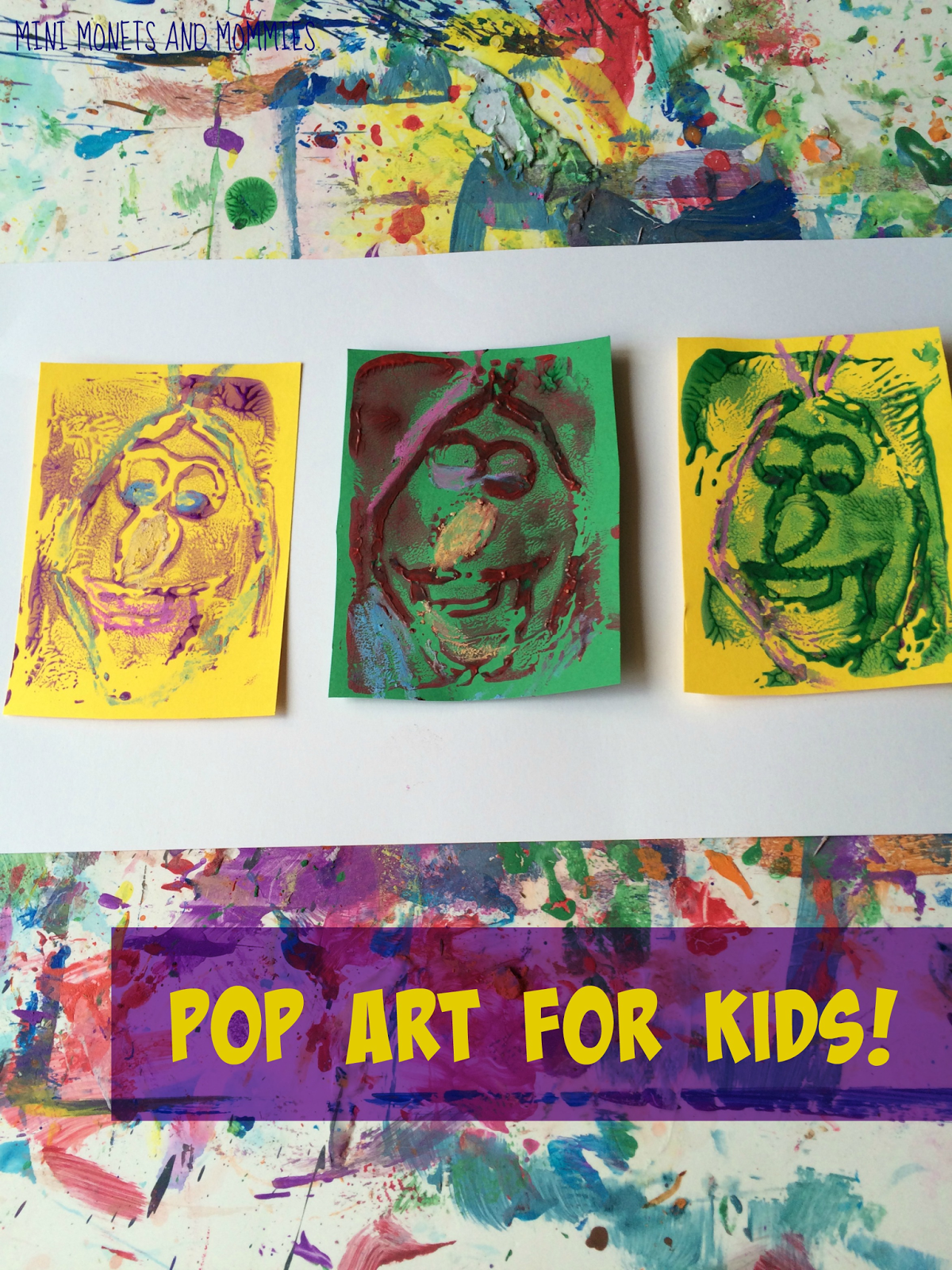 Andy Warhol PrintMaking Art Activity for Kids Pop art