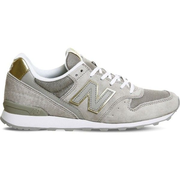 NEW BALANCE 996 suede and mesh trainers ($100) ❤ liked on ...