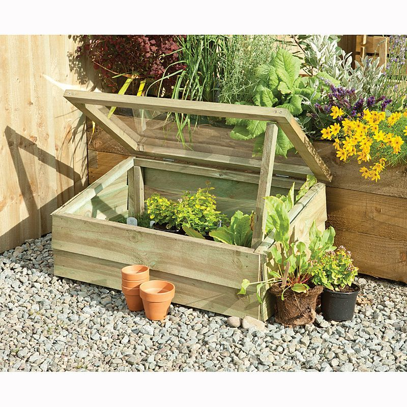 Timber cold frame from Asda | The Garden | Pinterest