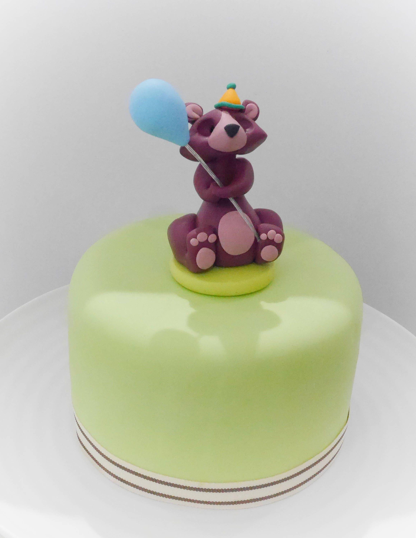 Bear cake topper woodland cake topper bear figurine with