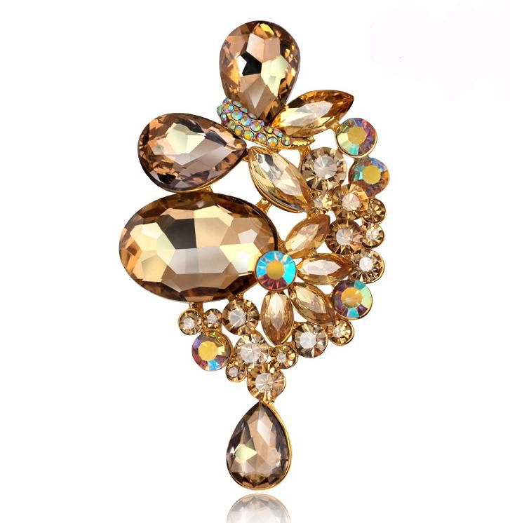 Cheap Shampagne Glass Large Rhinestone Brooch Pins Fashionable Jewelry Christmas Brooches Bouquet For Women Friendship Gift-in Brooches from Jewelry & Accessories on Aliexpress.com | Alibaba Group