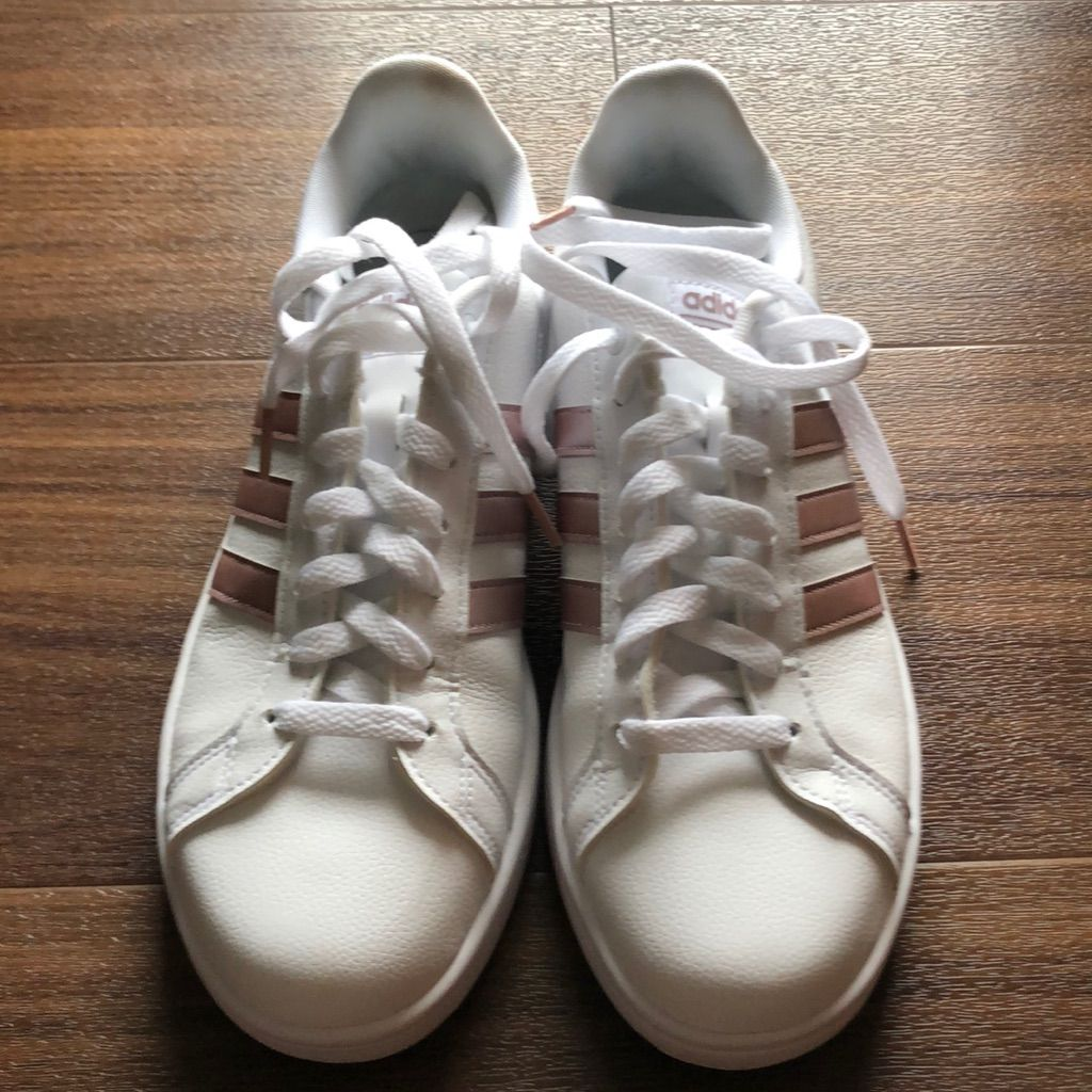 adidas rose gold shell toe