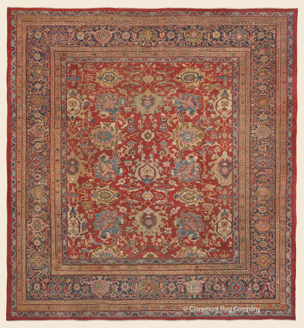 Connoisseur Caliber Antique Persian Sultanabad Rug 9ft 9in X 10ft 4in Antique Rug Claremont Rug Company Click In 2020 Claremont Rug Company Antique Rugs Rug Company