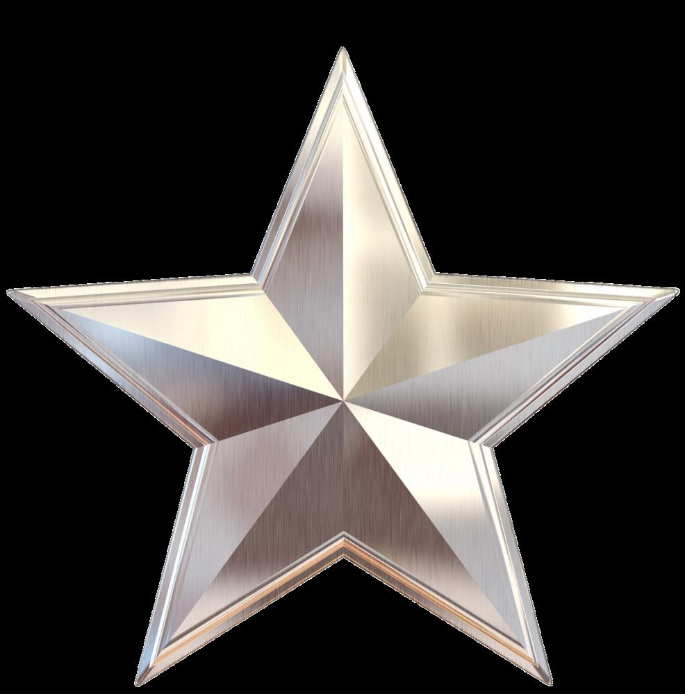Resultado de imagen de estrella en color plata en png