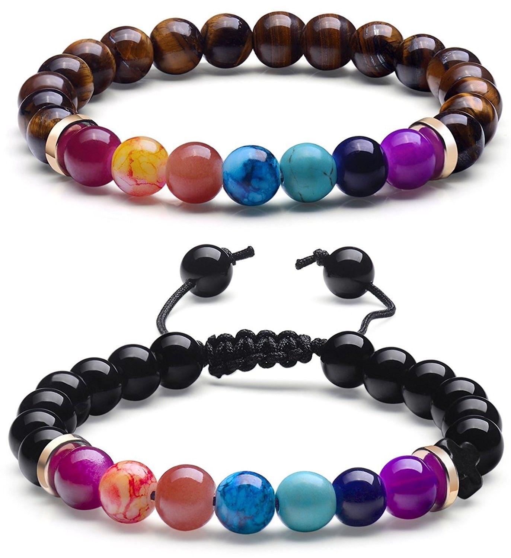 chakra bracelet natural real stone bead bracelet for couples men