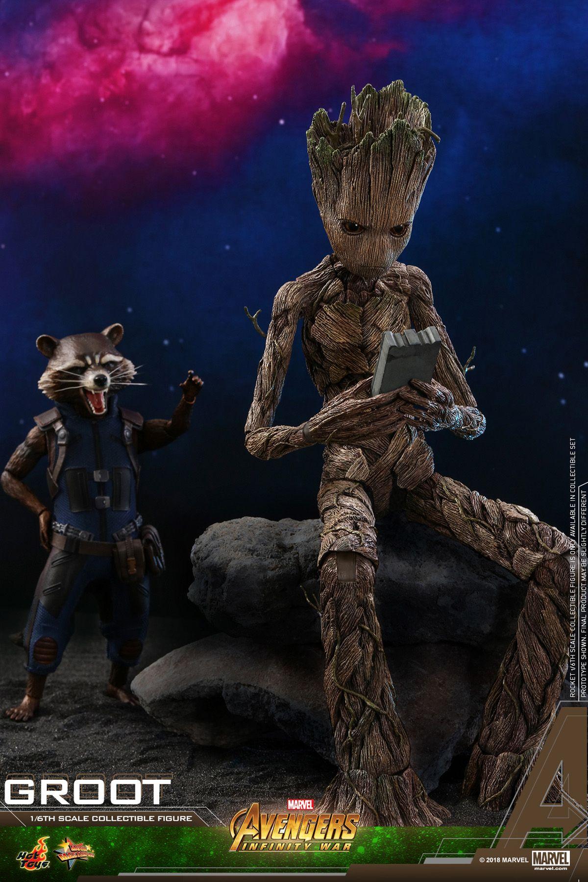 cda844d99 Teenage Groot and Rocket Hot Toys Revealed. Teenage Groot and Rocket Hot  Toys Revealed Avengers Infinity War ...