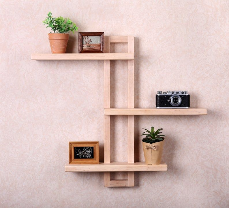 Shift Adjustable Shelf Wall Shelf Wood Shelf Floating Wall Etsy In 2020 Wooden Wall Shelves Wood Wall Shelf Wall Shelves Design