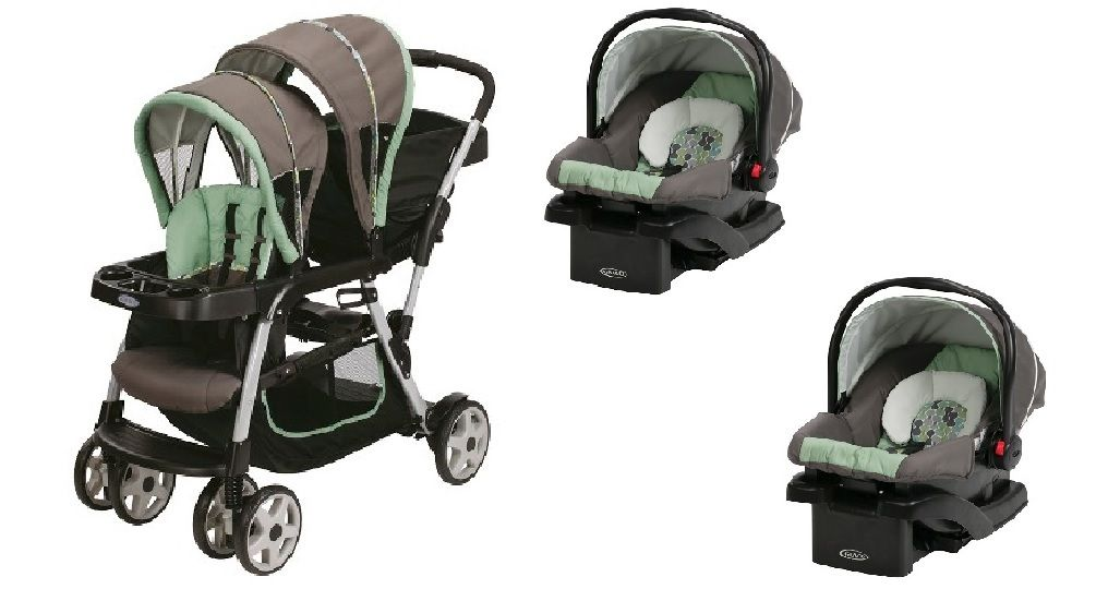Graco Double Stroller with Car Seats Included Travel System Bundle ...