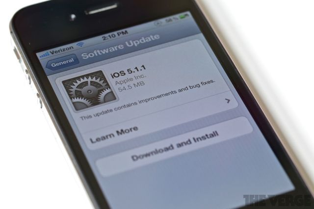 Apple releases minor iOS 5.1.1 update to fix bugs with AirPlay, HDR shooting, and syncing bookmarks