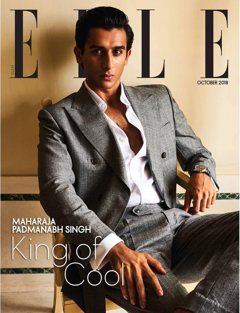 Kumar Padmanabh Singh en portada de ELLE India Octubre 2018 in 2019