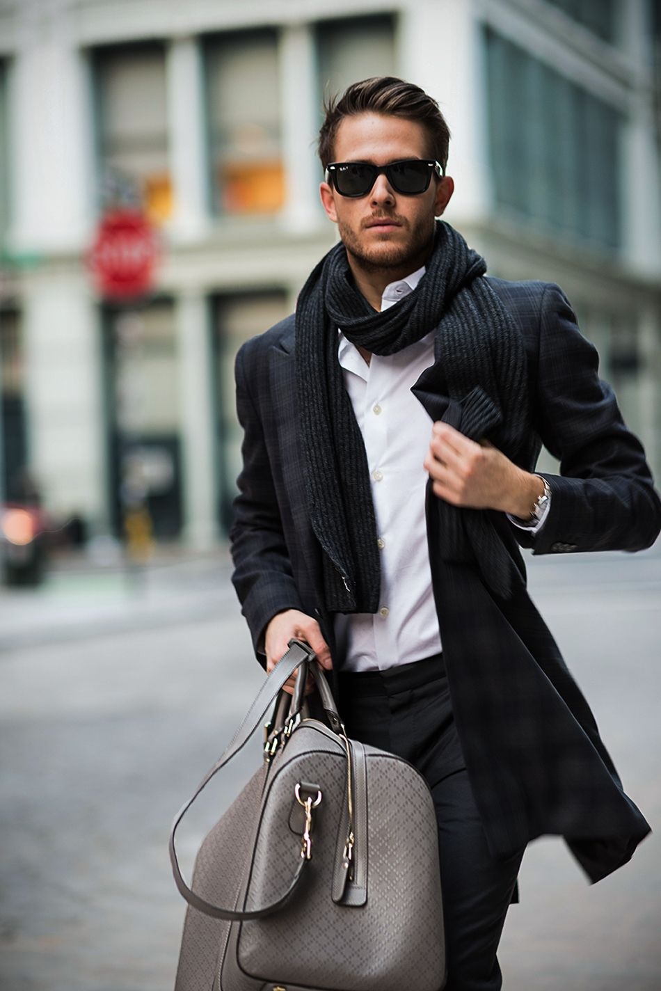 Adam Gallagher in Holiday Style - Topman trousers, Ted Baker coat, Uniqlo  shirt,