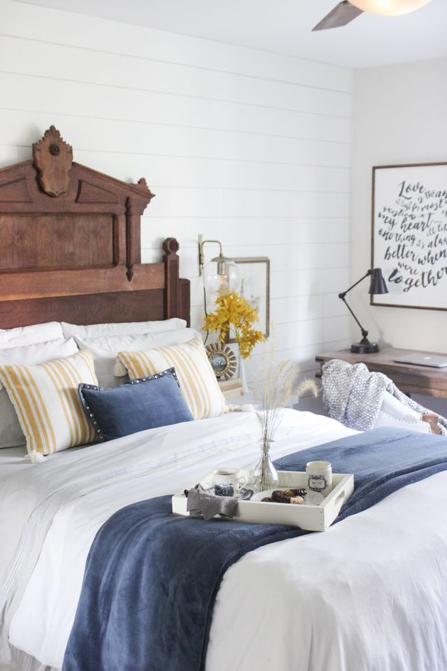 Yellow Master Bedroom Decorating Ideas: Fall Into Home Tour 2016