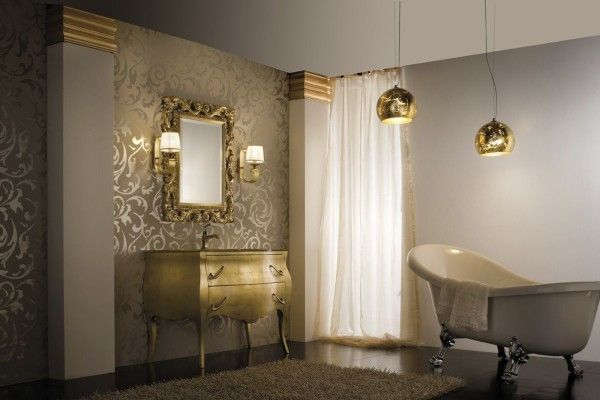 Awesome Glamorous Classic Gold And Silver Bathroom Vanities By Arte Bagno Veneta