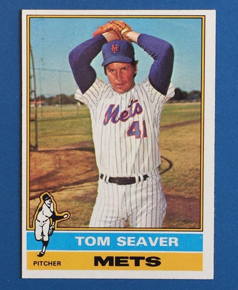 Topps 1976 Baseball Card Tom Seaver New York Mets 600 Hof Vintage
