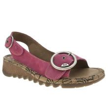 Fly London Sandals Womens Pink Pink Tram Increased Within Winter