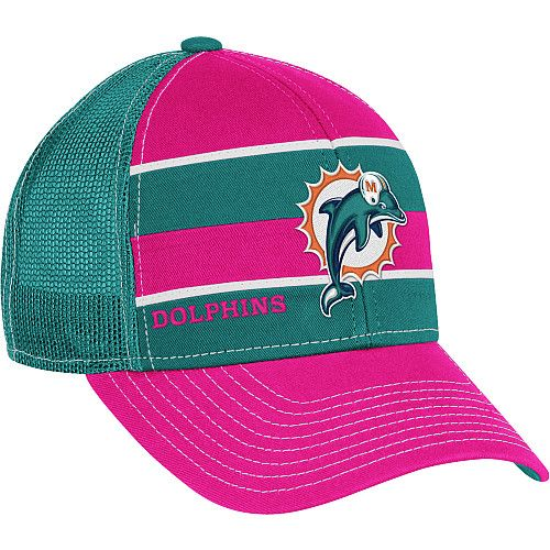 b61a93e0 Reebok Miami Dolphins Women's Breast Cancer Awareness Trucker Hat ...