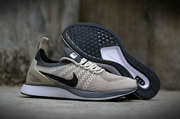 Youth Big Boys Nike Air Zoom Mariah Flyknit Racer Oyster White Black Grey  White d63e7a4bf53b