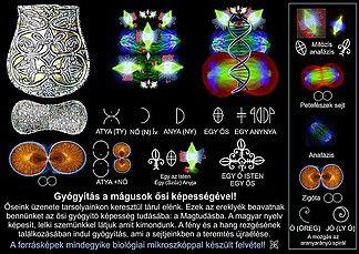 Gyógyítás a mágusok ősi képességével! (A kép egyes részletei kattintással szimbólumkapukat nyitnak meg) Őseink üzenete tarsolyainkon keresztül tárul elénk. Ezek az ereklyék beavatnak bennünket az ősi gyógyító képesség tudásába: a Magtudásba. A magyar nyelv képesít, lelki szemünkkel látjuk amit kimondunk. A fény és a hang, a kép és a szó rezgésének találkozásában indul gyógyítás, ami a sejtjeinkben a teremtés újraélése. A képen a rakamazi tarsoly lemeze látható.