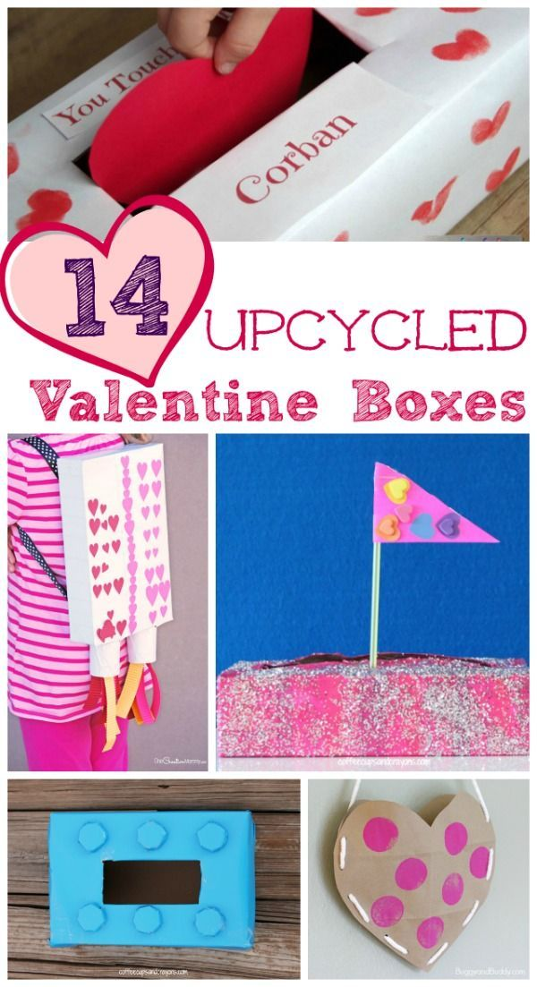 14 Easy Valentine Box and Card Holder Ideas  sc 1 st  Pinterest & 14 Easy Valentine Box and Card Holder Ideas | Diy recycle and Winter ...