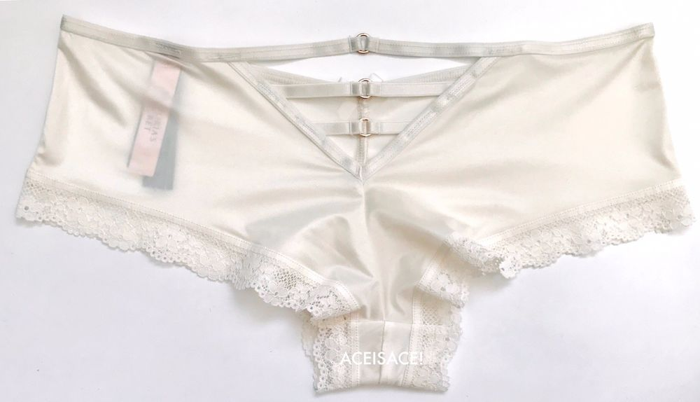 74621a60b2 NWT  VICTORIA S SECRET VERY SEXY STRAPPY CHEEKY PANTY--COCONUT WHITE  (EX3)--M M  VictoriasSecret  STRAPPYCHEEKYPANTY  GlamourParty