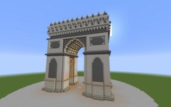 Triumphal Arch Paris Minecraft Blueprints Minecraft Underground Minecraft Plans