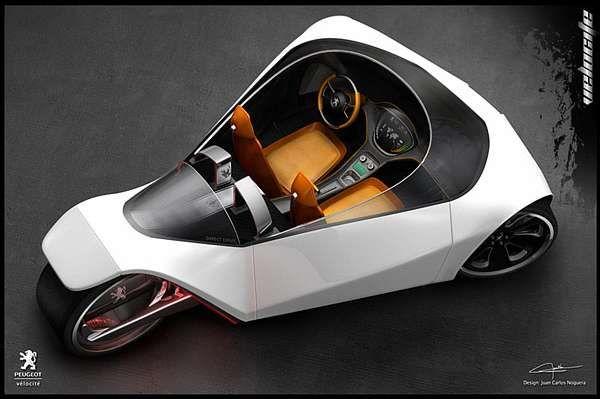 Tryke Eco Cars Peugeot Velocite Eco Concept Car #conceptcars