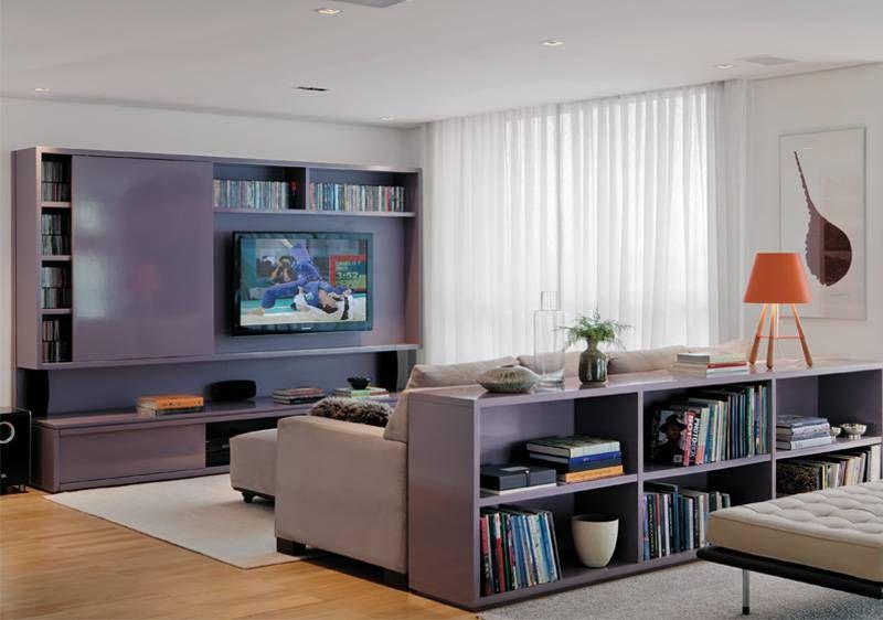 Home Theater Oito Projetos De Salas De Tv Mesa Atras Do Sofa