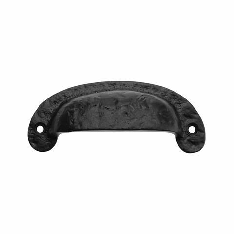 3 1//2 Black Cast Iron Pull Cast Iron Drawer Door Pull Colonial Black Drawer Pull