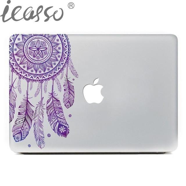 Cute Stitch Holding Apple MacBook Decal