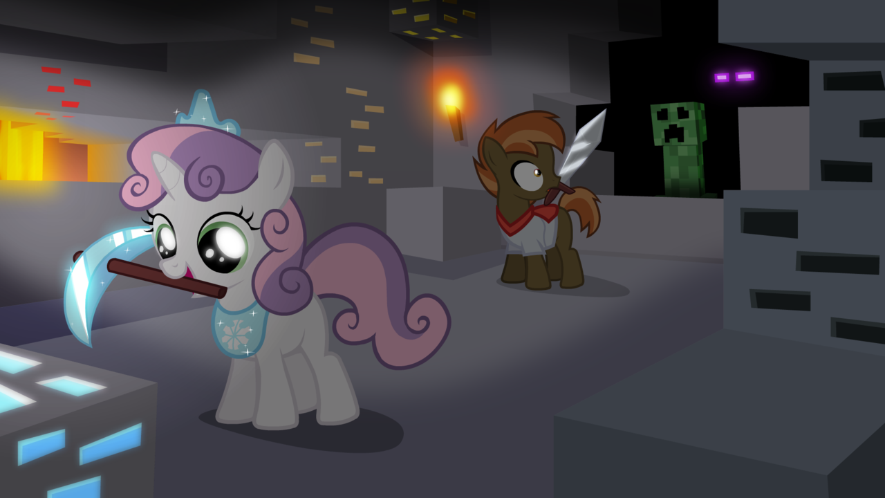 Belle Mlp Minecraft Mash Sweetie Button And