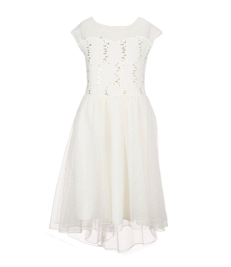 Xtraordinary lacetochiffon highlow dress for julia pinterest