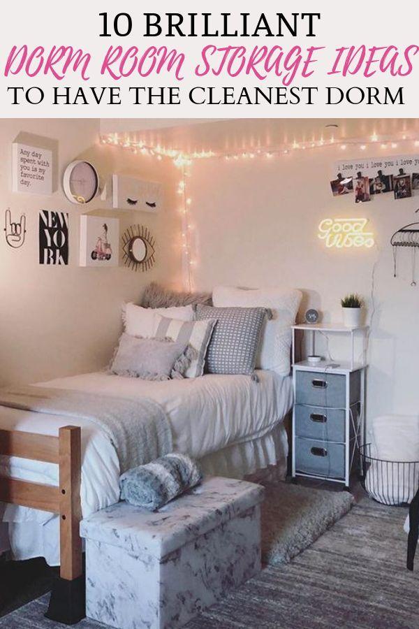 10 Genius Dorm Room Storage Ideas images