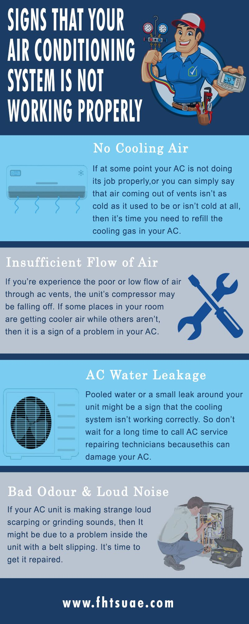 Signs That Your Air Conditioning System Is Not Working Properly