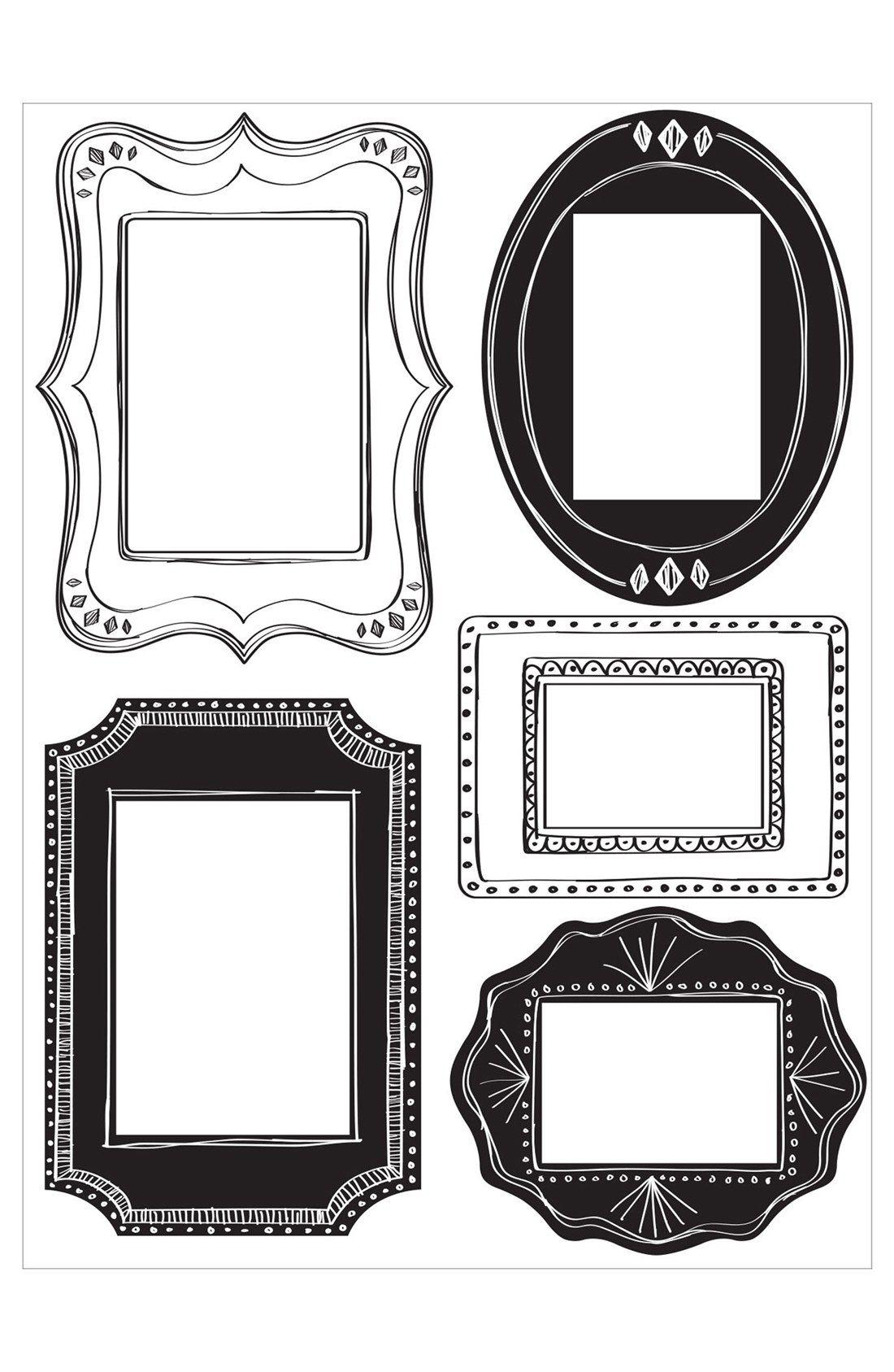 Wallpops \'Sketch It\' Wall Decal Frames (Set of 5) | vintage old ...