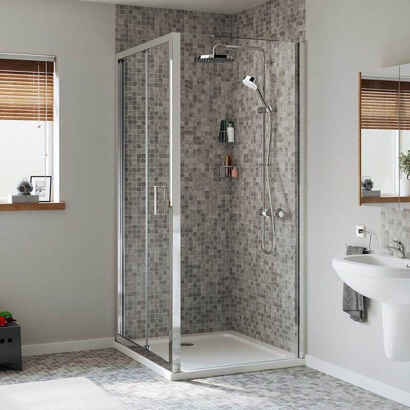 Mira Leap Rectangular Bifold Shower Enclosure Bifold Shower Door Shower Enclosure Shower Doors