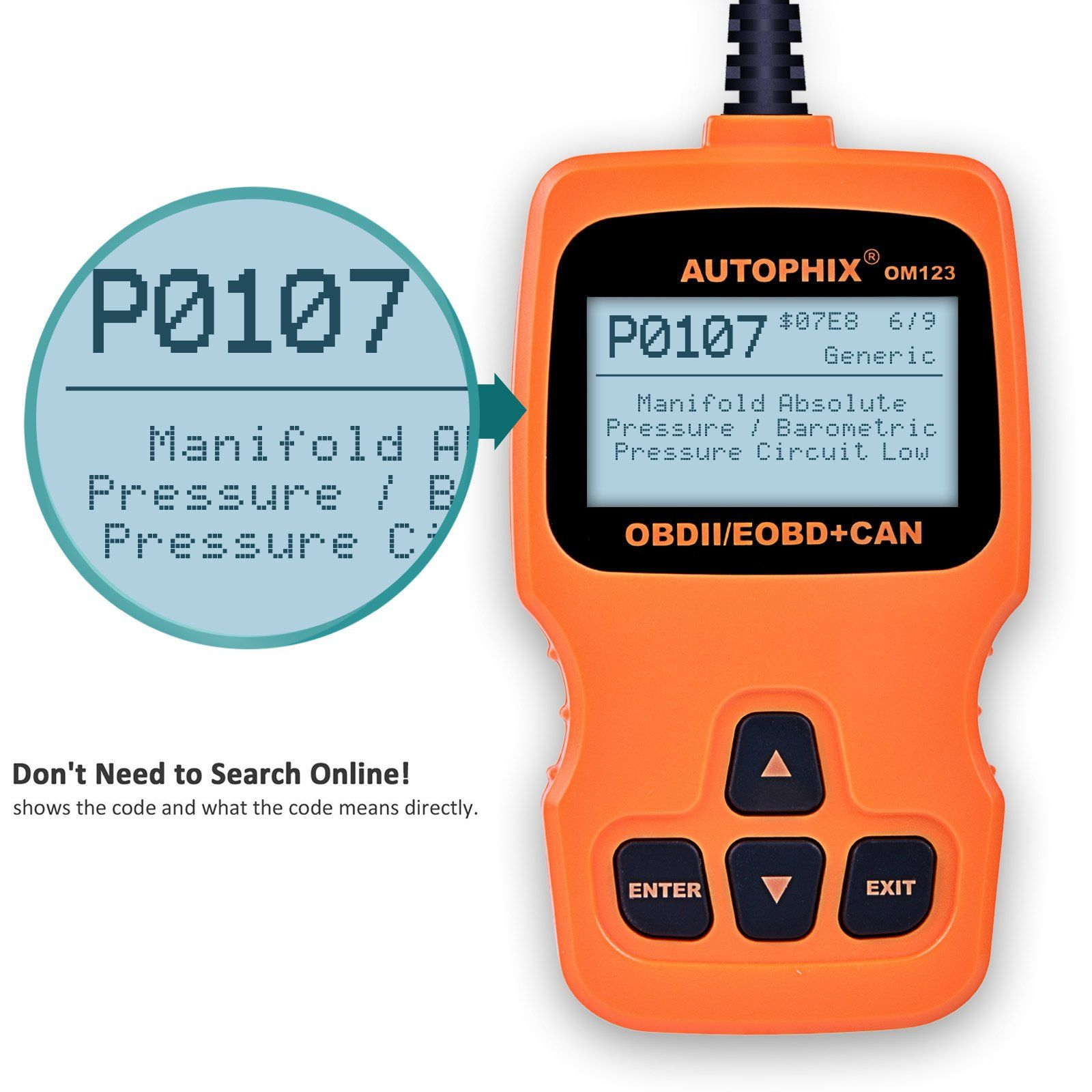 AUTOPHIX OBD2 Scanner OM123 Enhanced Automotive Code Reader with