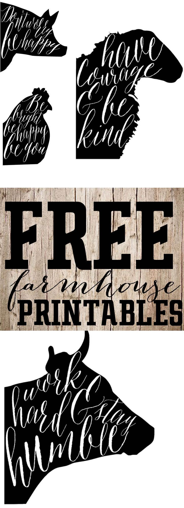 Free Printable SaturdayFarmhouse Animal Prints Free