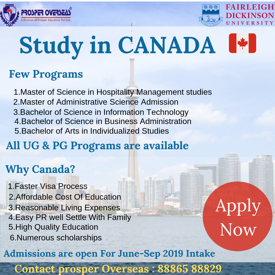 Study In Canada Hospitality Management Overseas Education Master Of Science