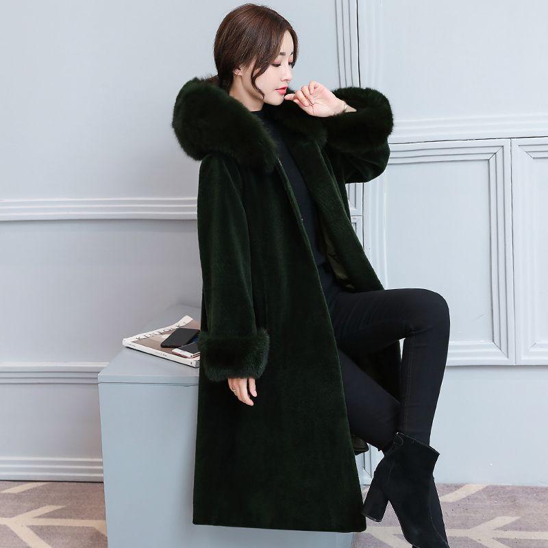HANZANGL Mode femme Cachemire Manteau De Fourrure Flocage Hiver Long  Manteau Veste Plus La Taille Fausse Fourrure Femmes Survêtement 5 couleur S  ~ 2XL dans ...